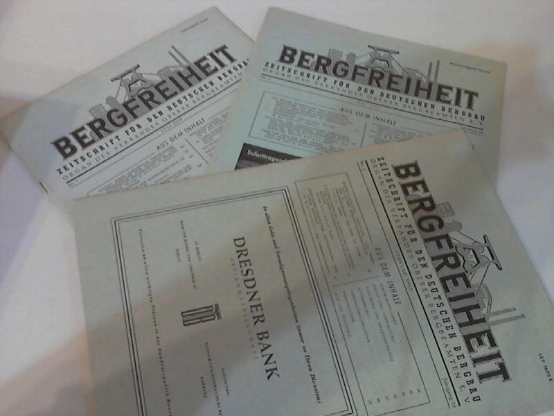 Bergfreiheit. Zeitschrift für den deutschen Bergbau Heft Nr. 7/1958 + Nr.5/1959 + Nr. 2./1960 3 Zeitschriften