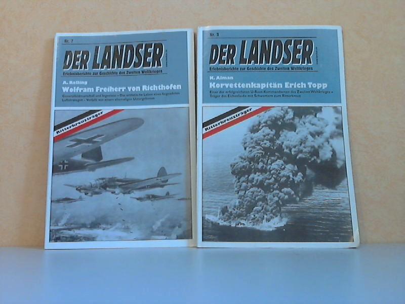 Der Landser. Erlebnisberichte zur Geschichte des Zweiten Weltkrieges Nr. 3 und Nr. 7 2 Zeitschriften