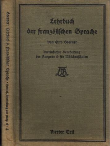 Lehrbuch der französischen Sprache - IV. Teil