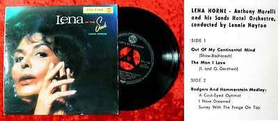 EP Lena Horne: Lena at the Sands (RCA EPA 2364) D