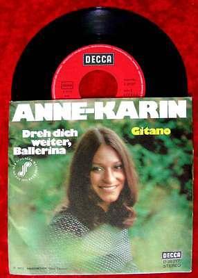 Single Anne Karin: Dreh Dich weiter Ballerina (Decca D 29 217) D 1973