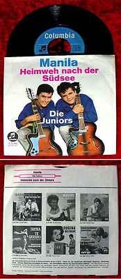 Single Juniors: Manila (Columbia C 21 964) D 1962
