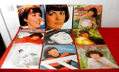 9 Langspielplatten von Mireille Mathieu
