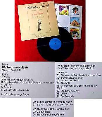 LP Willi Schwabe: Wilhelm Busch - Die fromme Helene (Litera 865 233) DDR 1977