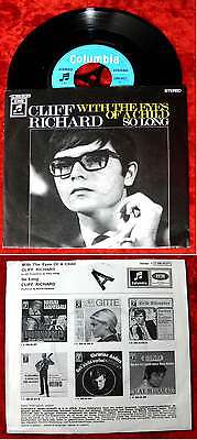 Single Cliff Richard: With the eyes of a child (Columbia C 006-04 271) D 1969