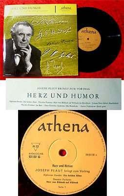 25cm LP Joseph Plaut: Herz und Humor- Meisterwerke