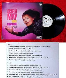 LP Gisela May singt Chansons (Philips Stereo 843 957 PY) D 1967 Promo