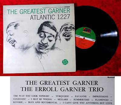 LP Erroll Garner Trio: The Greatest Garner (Atlantic SD 1227) US
