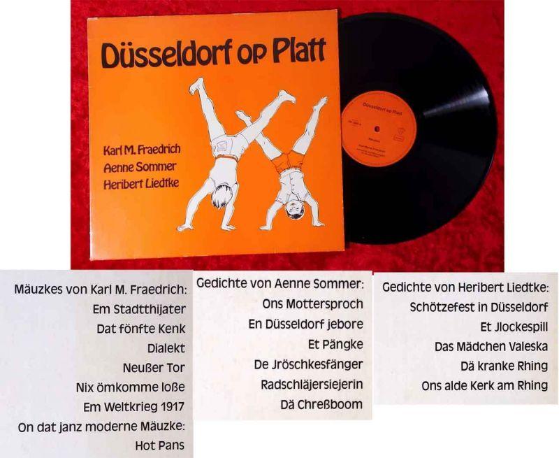Lp Düsseldorf Op Platt Gedichte Und Mäuzkes In Düsseldorfer Mundart D 1975