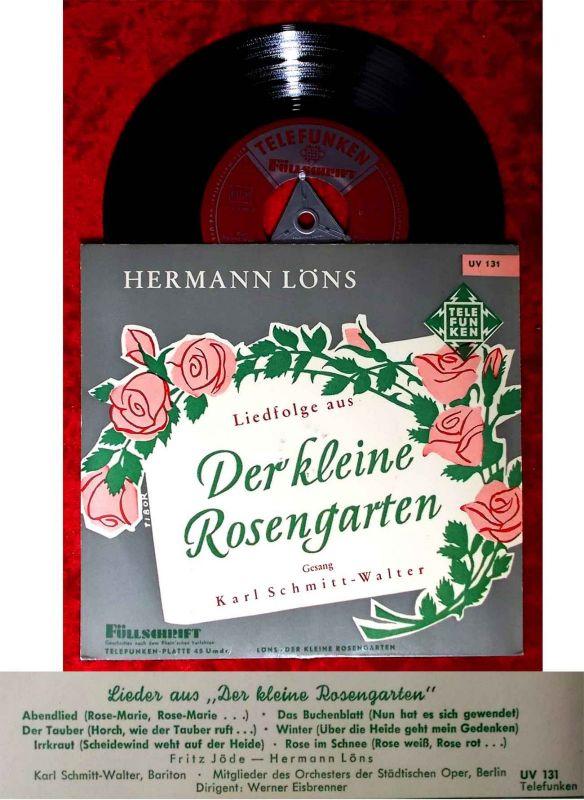 EP Karl Scmitt-Walter: Der kleine Rosengarten (Hermann Löns) (Telefunken UV 131)