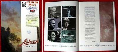 Tourprogramm Chris Rea Auberge Tour 1991 mit Ticket 13.10.91 Hamburg Sporthalle