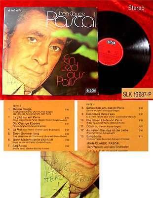 LP Jean Claude Pascal: Ein Lied aus Paris Signiert