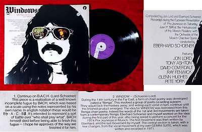 LP Jon Lord: Windows (Purple TPSA 7513) UK 1971
