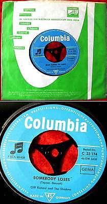 Single Cliff Richard w/ Shadows: Blue Turns to Grey (Columbia C 23 174) D
