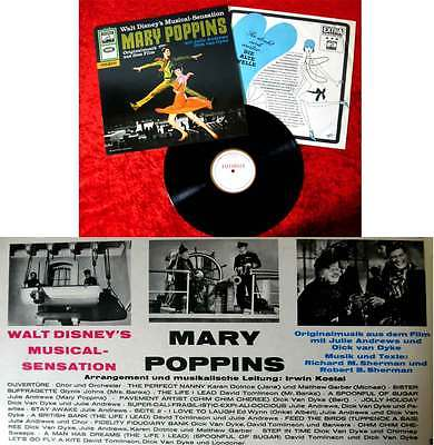 LP Mary Poppins - Originalfassung (Electrola STE 83 888) D 1964 Julie Andrews