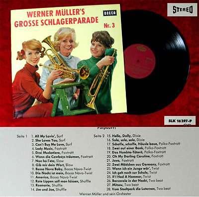 LP Werner Müller: Werner Müller´s grosse Schlagerparade Nr. 3 (Decca SLK 16 297)