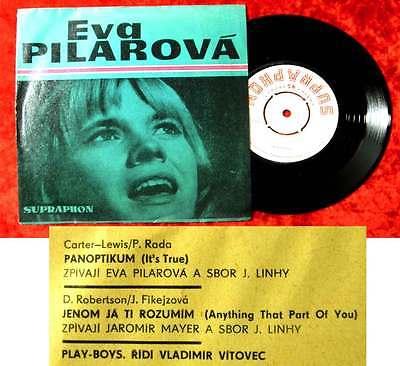 Single Eva Pilarova: Panoptikum (Supraphon 013 0161 h) CSSR 1967