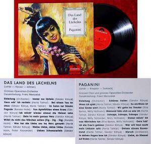 LP Land des Lächelns / Paganini (Polydor 408 014) Sonderproduktion 1964