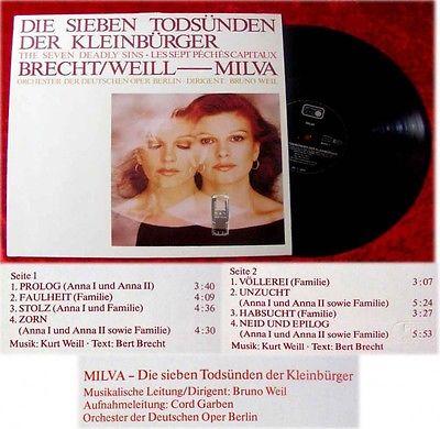 LP Milva: Die sieben Todsnden der Kleinbrger - Brecht