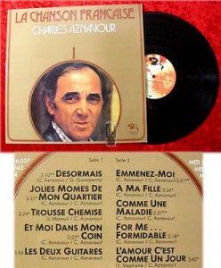 LP Charles Aznavour: La Chanson Francaise 1