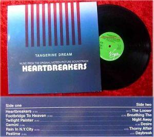 LP Heartbreakers Tangerine Dream Soundtrack