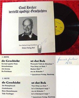 LP Emil Hecker vertellt spoßige Geschichten (Signiert)