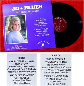 LP Jo Stafford Jo + Blues Ballad of the Blues