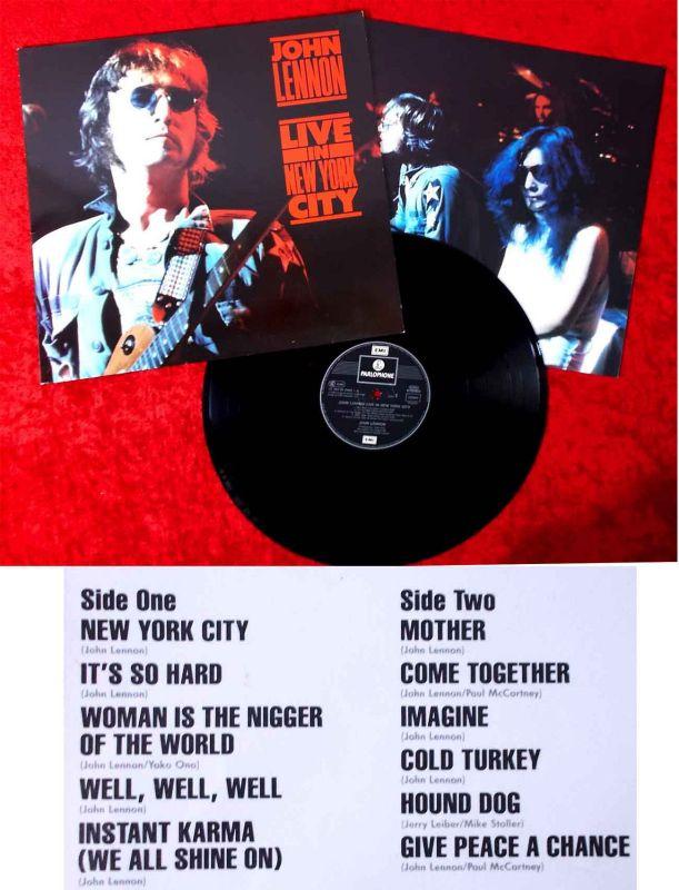 LP John Lennon: Live in New York City (Parlophone 064-24 0485-1) D 1986