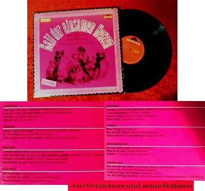 LP Axel Schönherr: Ball der einsamen Herzen (Polydor 237 460) D 1965