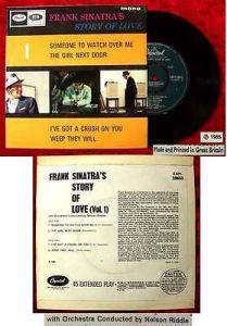 EP Frank Sinatra: Story of Love Vol. 1 (Capitol EAPI-20653) UK 1965
