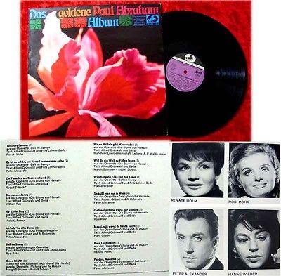 LP Das goldene Paul Abraham Album Hanne Wieder Peter Al