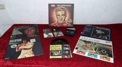 ELVIS PRESLEY - Vinylsammlung - +  Coaster Collection - (Glasuntersetzer)