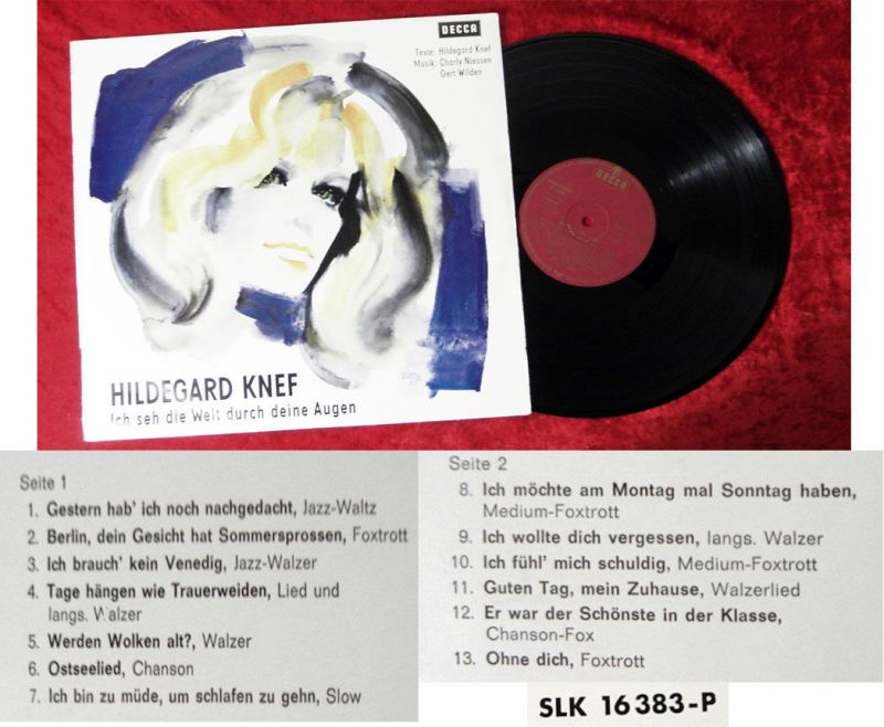 LP Hildegard Knef: Ich seh die Welt durch Deine Augen (Decca SLK 16 383-P) D