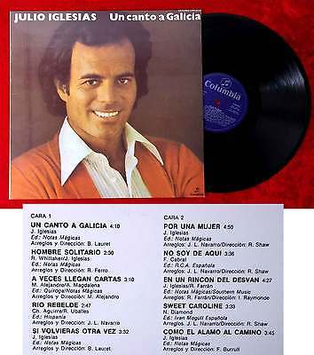 LP Julio Iglesias: Un Canto a Galicia (Columbia CPS 9722) Spanien 1972