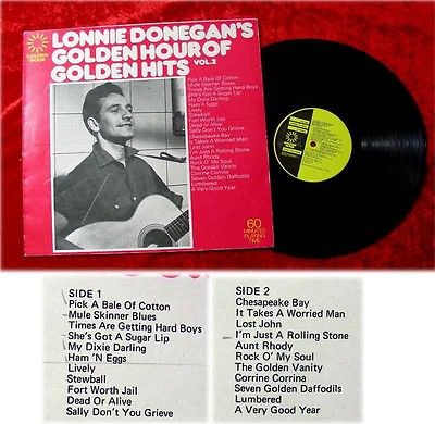 LP Lonnie Donegan Golden Hour of Golden Hits Vol 2