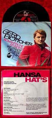 Single Gerd Böttcher: Romantische Stunden (Hansa 19 738) D