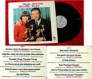 LP Mireille Matthieu Peter Alexander Olala Mireille Ser