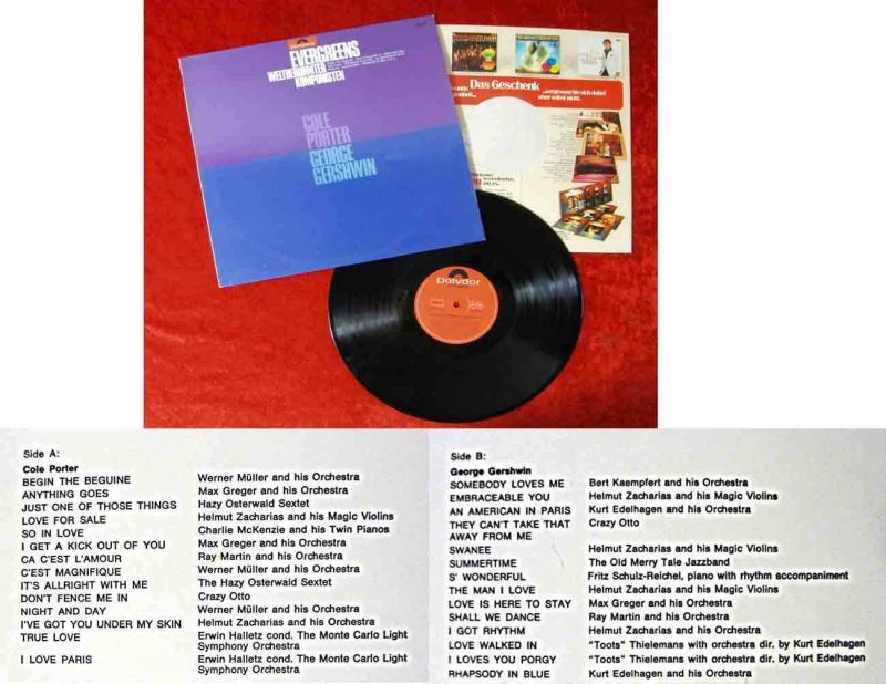 LP Evergreens weltberühmter Komponisten (Polydor 249 036) D