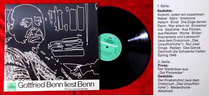 LP Gottfried Benn liest Benn (DGG 1044 036) D 1969