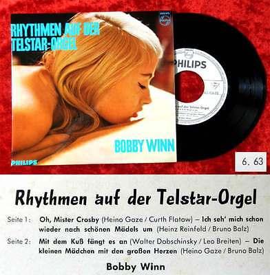 EP Bobby Winn: Rhythmen auf der Telstar-Orgel (Philips 423 456 PE) D 1963