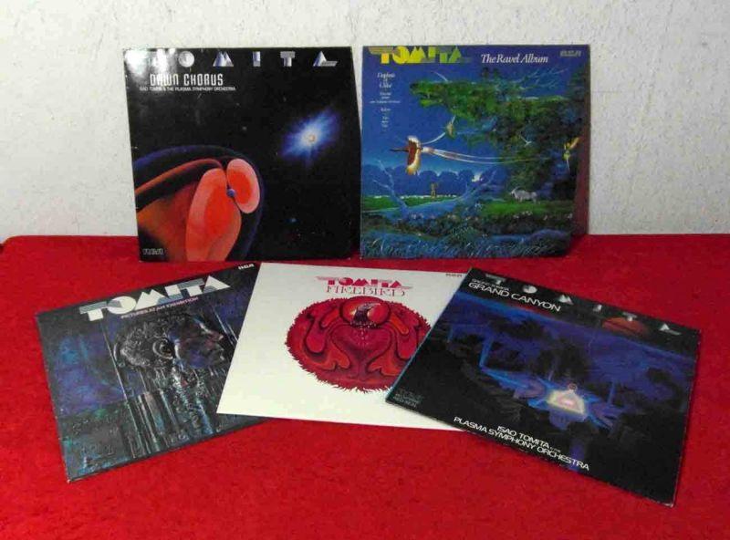 5 Langspielplatten TOMITA - Vinylsammlung -