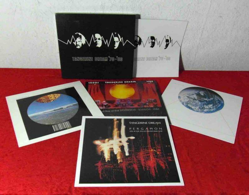 8 Langspielplatten TANGERINE DREAM - Vinylsammlung - incl. Box Set