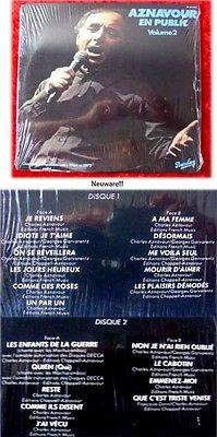 2LP Charles Aznavour En Public Vol 2 1964 bis 1972 (Fab