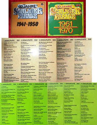 20 Langspielplatten Schlagerparade 1941 - 1970 (zwei Boxen) Polydor