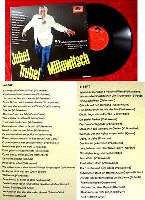 LP Willy Millowitsch Jubel Trubel Millowitsch