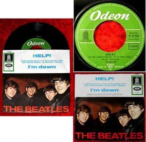 Single Beatles: Help! (Odeon O 23 023) D