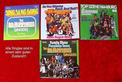 4 Singles Les Humphries Singers Originale der 1970er Jahre