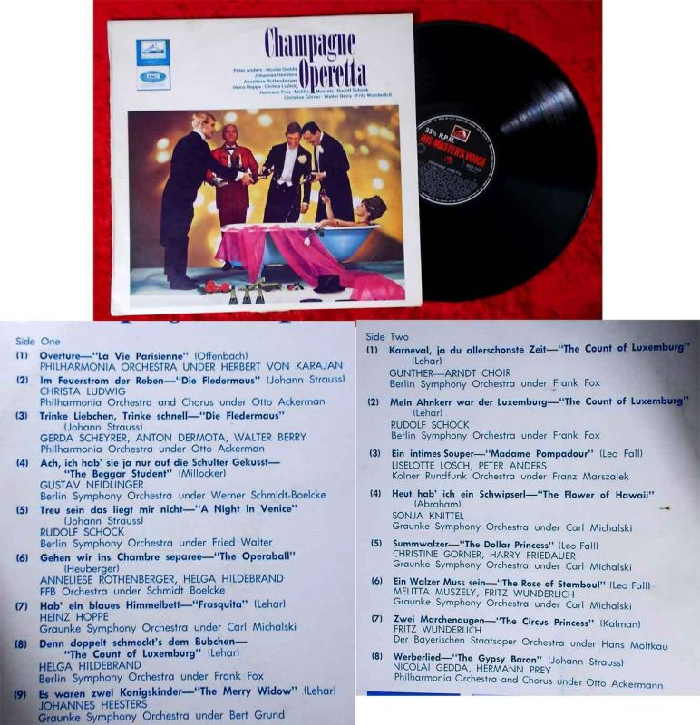 LP Champagne Operetta (HMV OCLP-7631) Australien