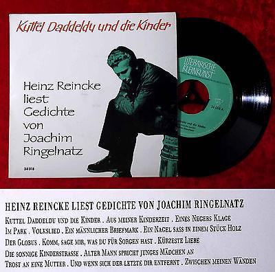 Ep Heinz Reincke Liest Gedichte Von Joachim Ringelnatz Kuttel Daddeldu Die