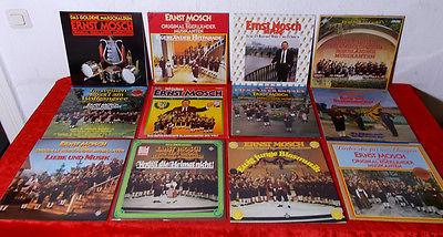 14 Langspielplatten Ernst Mosch & Original Egerländer Musikanten - Top Zustand -